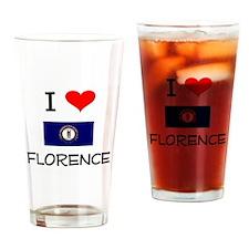 I Love FLORENCE Kentucky Drinking Glass