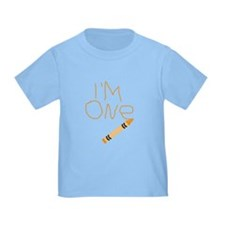 Im One Orange Crayon Writing T-Shirt
