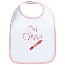 Im One Red Crayon Writing Bib