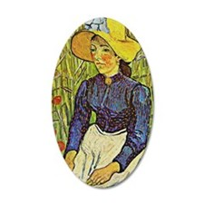 Van Gogh: Young Peasant Girl Wall Decal