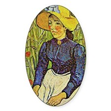 Van Gogh: Young Peasant Girl in a S Decal