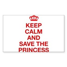 Keep Calm And Save The Princess Decal