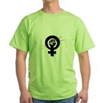 Feminist Knitter Green T-Shirt