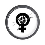 Feminist Knitter Wall Clock