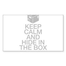 Keep Calm And Hide In The Box Decal