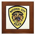 National City Police Framed Tile