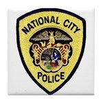 National City Police Tile Coaster
