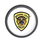 National City Police Wall Clock