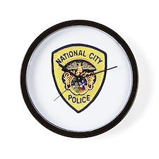 National City Police Wall Clock