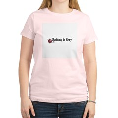 Knitting Is Sexy Women's Pink T-Shirt