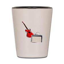 stylized guitar amp red. Shot Glass