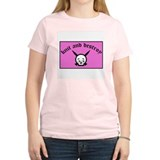 Knit and Destroy Skull Women's Pink T-Shirt