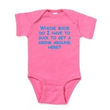 Whose Boob Do I Have To Suck Baby Bodysuit