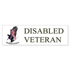 Disabled Veteran w/Eagle and Flad Bumper Bumper Sticker