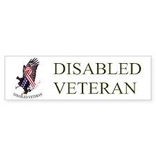 Disabled Veteran w/Eagle and Flad Bumper Bumper Stickers