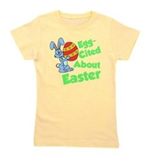 Egg-Cited About Easter Girl's Tee