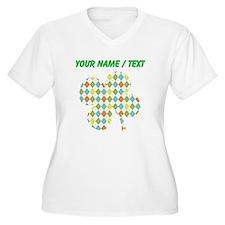 Custom Argyle Shamrock Plus Size T-Shirt