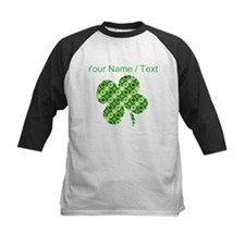 Custom Green Shamrocks Clover Baseball Jersey