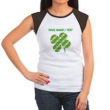 Custom Green Shamrocks Clover T-Shirt