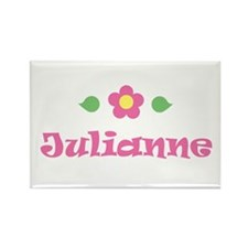 "Pink Daisy - ""Julianne"" Rectangle Magnet"