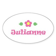 "Pink Daisy - ""Julianne"" Oval Decal"