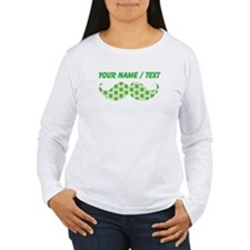Custom Irish Shamrocks Mustache Long Sleeve T-Shir
