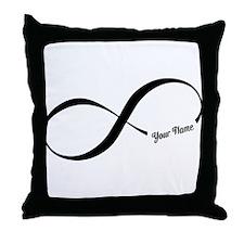Infinity Word CUSTOM TEXT Throw Pillow