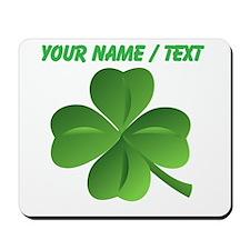 Custom Green Shamrock Mousepad