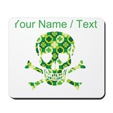 Custom Irish Pirate Skull And Crossbones Mousepad