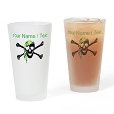 Custom Irish Pirate Skull And Crossbones Drinking