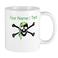 Custom Irish Pirate Skull And Crossbones Mugs