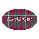 Tartan - MacGregor Sticker (Oval 10 pk)