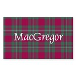 Tartan - MacGregor Sticker (Rectangle 50 pk)