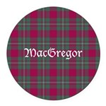 Tartan - MacGregor Round Car Magnet