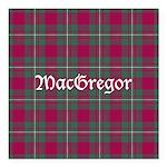 Tartan - MacGregor Square Car Magnet 3