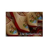 Wooden Clogs - Netherlands Rectangle Magnet