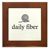 Daily Fiber - Yarn Ball Framed Tile