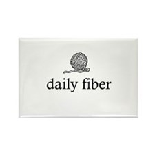 Daily Fiber - Yarn Ball Rectangle Magnet