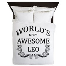 World's Most Awesome Leo Queen Duvet