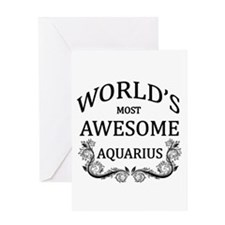 World's Most Awesome Aquarius Greeting Card