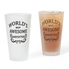 World's Most Awesome Babysitter Drinking Glass