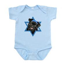 Hanukkah Star of David - Pug Infant Bodysuit