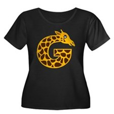 G is for Women's Plus Size Dark Scoop Neck T-Shirt