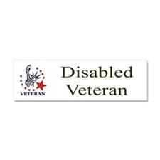 Disabled veteran bumper sticker Car Magnet 10 x 3