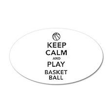Keep calm and play Basketball 20x12 Oval Wall Deca