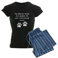 Well Trained Siberian Husky Owner Pajamas