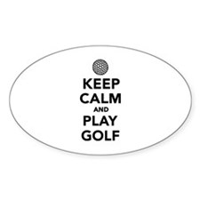 Keep calm and play Golf Decal