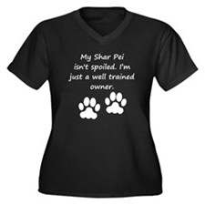 Well Trained Shar Pei Owner Plus Size T-Shirt