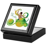 Synchronized swimming Keepsake Box
