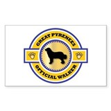 Pyrenees Walker Rectangle Decal